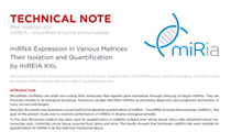 microRNA Expression in Various Matrices: Their Isolation and Quantification by miREIA Kits (Technical note)